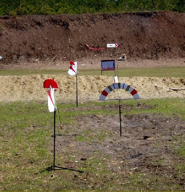 Take a look at the tail on my tall flag behind the targets. The one on the left is Screaming 'Please do not shoot now'
